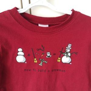 2/$20 Red Gymboree Outlet snowman shirt 18 months